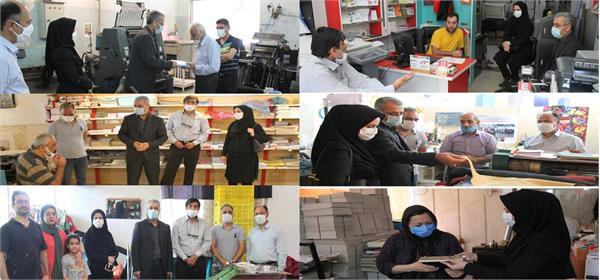 دیدار و بازدید احمد گلچین از 5 واحد صنفی چاپ در شهرستان گرگان