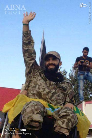 استقبال از شهید زنده حزبالله در جنوب لبنان +عکس