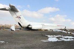 فرود اضطراری هواپیما در اهواز به دلیل نقص فنی