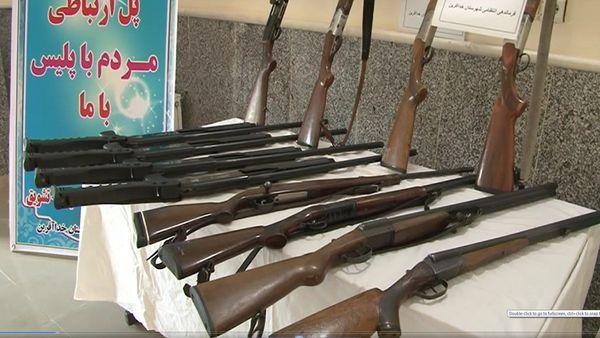 کشف ۸ قبضه سلاح غیرمجاز در آق قلا