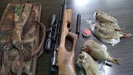 شکارچی غیرمجاز کبک در گلستان دستگیر شد