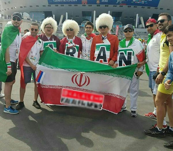 طرفداران کلاله ای تیم ملی در روسیه + عکس