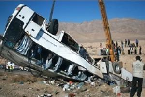 جزئیات تازه از حادثه واژگونی اتوبوس