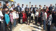 کلنگ زنی احداث مدرسه دو کلاسه خیّرساز در مراوه تپه