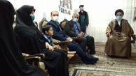 دیدار رئیس دیوان عالی کشور با خانواده شهید مدافع حرم افشین ذورقی