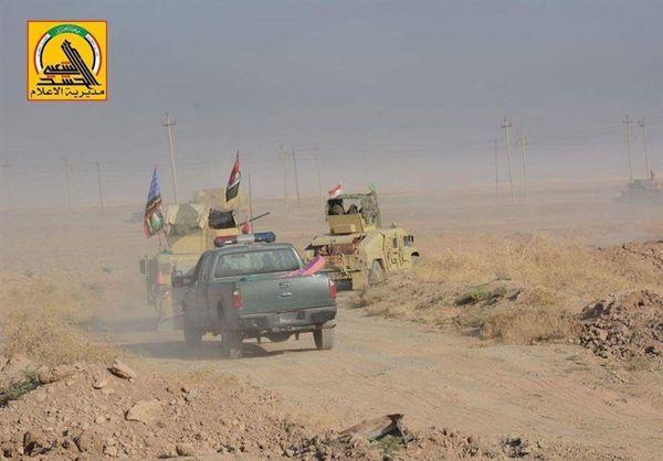 استقرار تجهیزات نظامی گسترده حشدالشعبی در محور غربی موصل