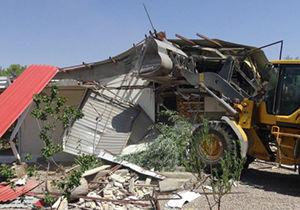 تخریب ساخت و سازهای غیر مجاز در گلستان