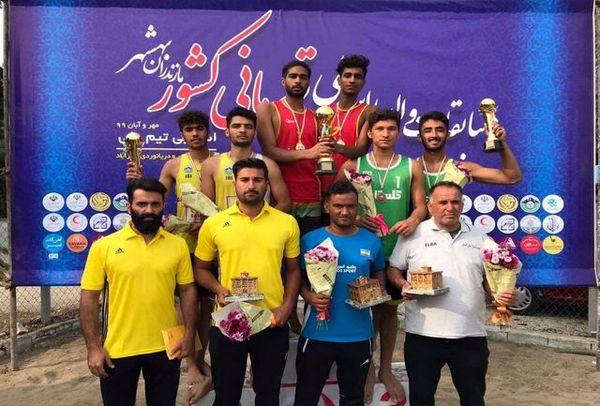 کسب مقام سومی گلستان در مسابقات والیبال ساحلی زیر ۲۰ سال کشور