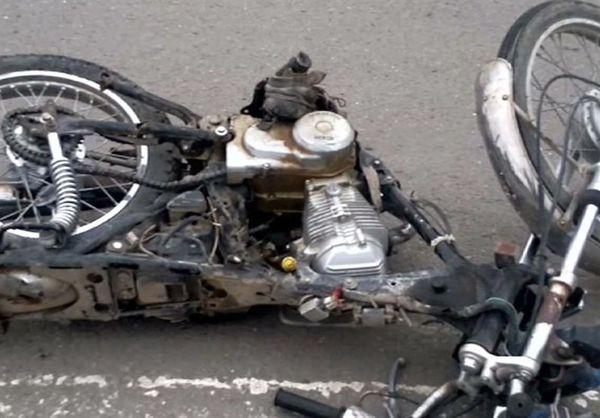 مرگ راکب موتورسیکلت در حادثه تصادف