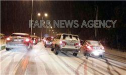 ترافیک سنگین و لغزندگی