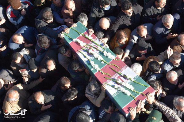 آیین خاکسپاری پیکر یک شهید خوشنام در حسینه عاشقان ثارالله گرگان+گزارش تصویری