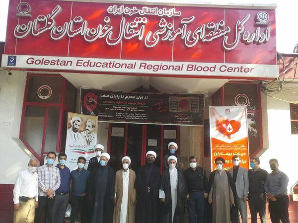 اهدای خون توسط مدیرکل و کارکنان تبلیغات اسلامی استان گلستان  + تصاویر