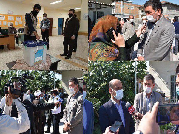 پوشش انتخابات مرحله دوم مجلس یازدهم در غرب گلستان توسط 20 خبرنگار و 10 تیم خبری + تصاویر