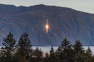 فیلم/ لحظه انفجار موشک مداری امریکا