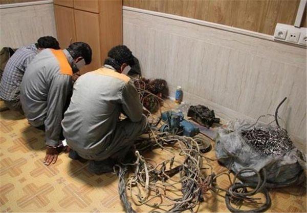 باند سارقان کابل برق شمال و شرق کشور در بندترکمن دستگیر متلاشی شد
