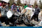 تصادف وحشتناک مینودشت دو کشته و چهار مجروح بر جای گذاشت + تصاویر