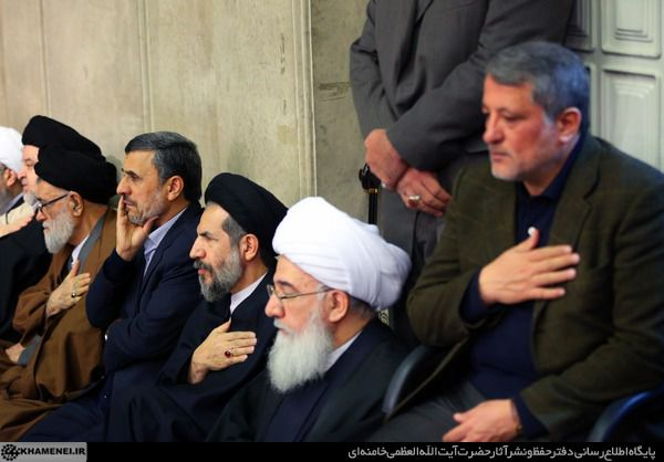 تصاویر / حضور احمدی نژاد در مراسم ترحیم آیت الله هاشمی رفسنجانی در حسینیه امام خمینی