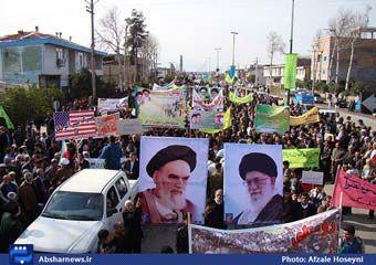 تصاویر/ راهپیمایی باشکوه 22 بهمن مردم منطقه فندرسک