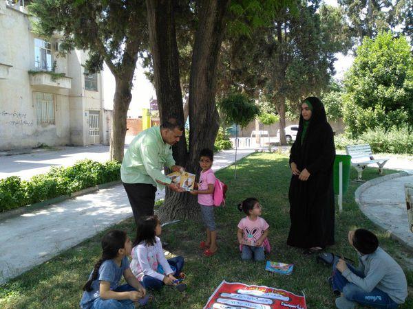 طرح هر بوستان یک داستان در پارک بهمن  گنبد کاووس برگزارشد.