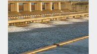 رهاسازی آب از دریچه های سد گلستان