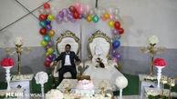 جشن ازدواج زوج سیل زده در خوزستان + تصاویر
