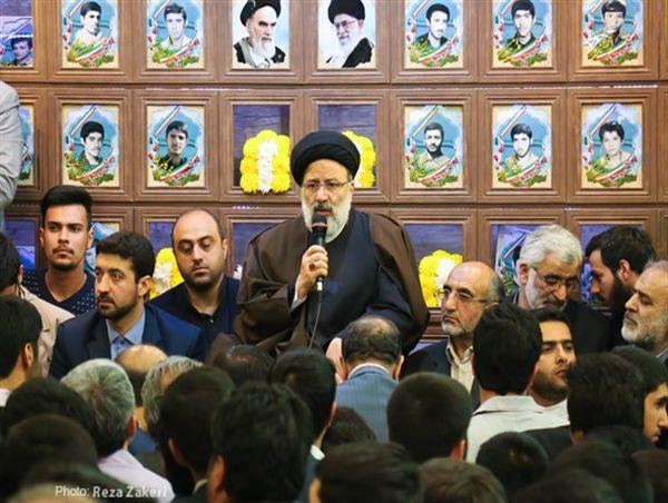 سخنرانی حجتالاسلام رئیسی در مسجد حوری