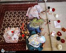 نقش زندگی بر تار و پود فرش ترکمن+تصاویر