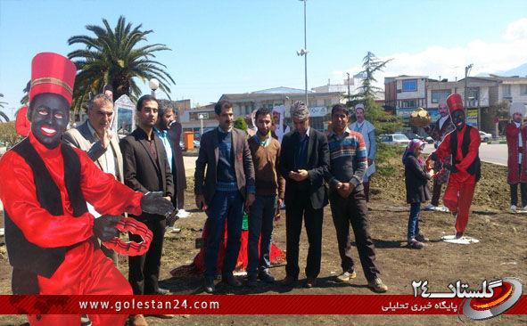 افتتاح هفت سین عشایر ایران در میدان شهرداری کردکوی
