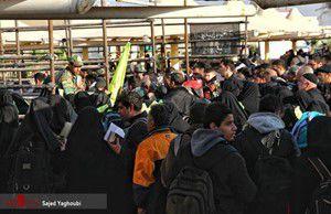 فیلم/ ازدحام جمعیت زائران در مرز خسروی