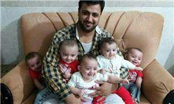 شهادت پدر ۵ قلوها در سوریه!+تصویر