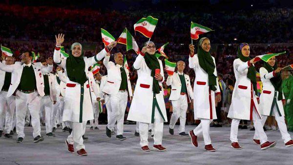 دانلود/ لحظه ورود کاروان ایران به المپیک 2016 ریو