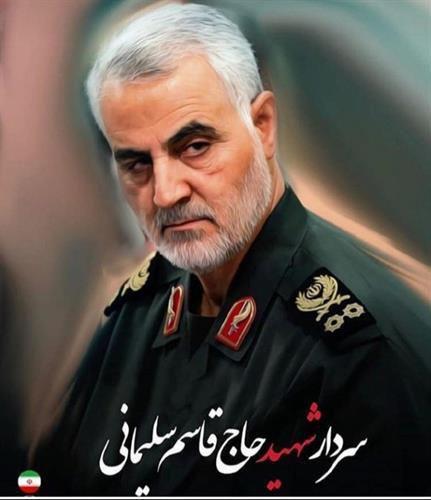 سردار حاج قاسم سلیمانی در آغوش شهیدان +عکس