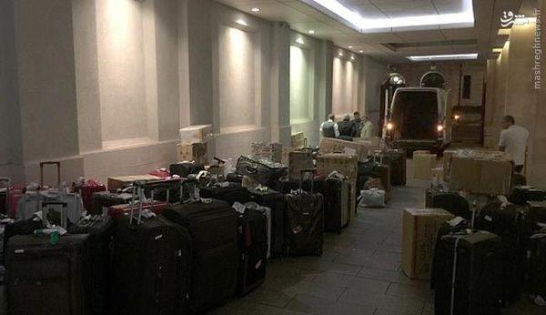 چمدان های امیر قطر +عکس