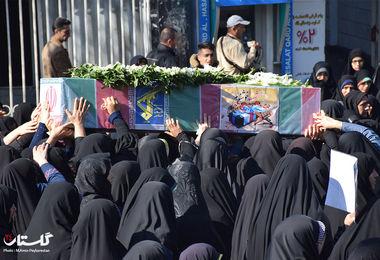 تشییع پیکر پاک دو شهید گمنام در گرگان
