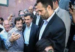 عکس سلفی با احمدی نژاد در مراسم ختم!