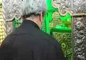 فیلم / تشرف خانواده شهید حججی به حرم مطهر حضرت رقیه (س)