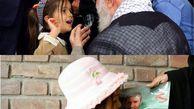 «کلاه صورتی» اهدایی رهبر انقلاب به «نهال» دختر شهید مدافع حرم رسید + تصاویر
