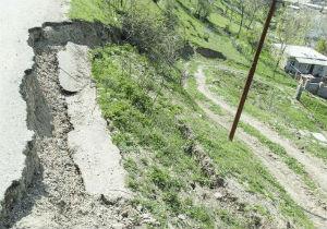 رانش زمین در روستای میان رستاق علی آباد کتول