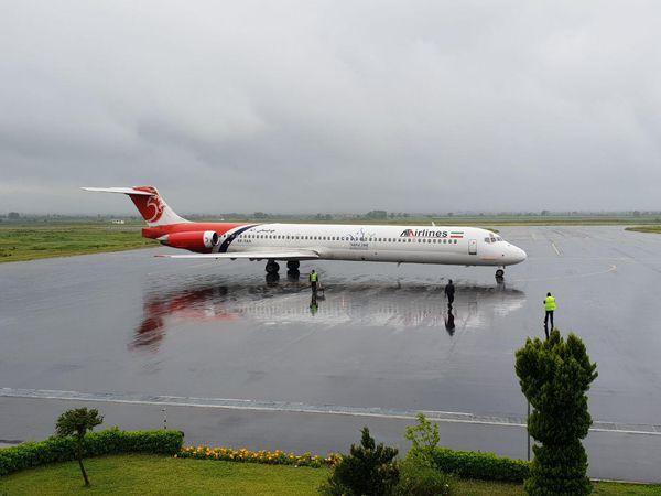 آغاز پروازهای شرکت هواپیمایی آتا در فرودگاه گرگان