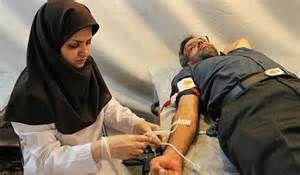اهدای خون مردم عزادار گلستانی