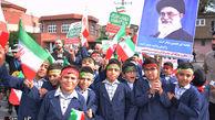 خروش دانش آموزان گلستانی بر علیه استکبار+تصاویر
