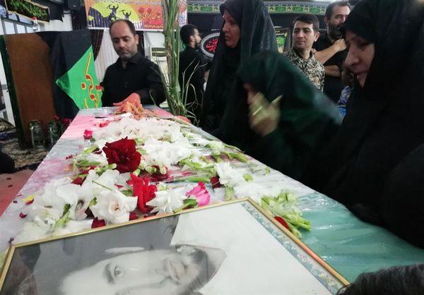 """مراسم استقبال از پیکر شهید تازه تفحص شده """"شهید نصرتی"""" در علیآبادکتول برگزار شد"""