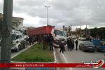 بی احتیاطی کامیون در کردکوی حادثه آفرید+تصاویر