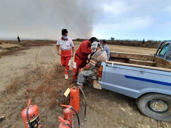 ۱۲ نفر در عملیات اطفاء حریق جزیره آشوراده مصدوم شدند