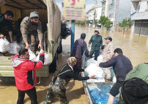 توزیع مرحله دوم کمکهای مردم کردکوی بین سیل زدگان