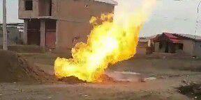انفجار لوله گاز در روستای صحنه آق قلا