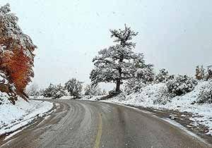 برف در ارتفاعات استان