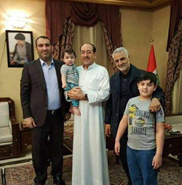 عکس/ حضور سردار سلیمانی در منزل نوری المالکی