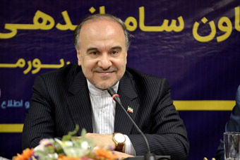 عکس/ خوشحالی خاص وزیر ورزش در بازی ایران و مراکش!