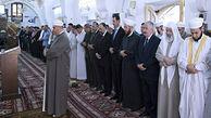 فیلم/ حضور بشار اسد در نماز عید فطر